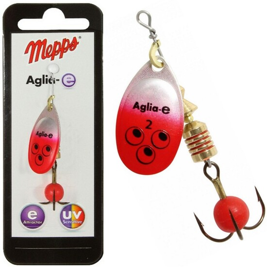 Mepps Lures Aglia-e Brite Red Spinner