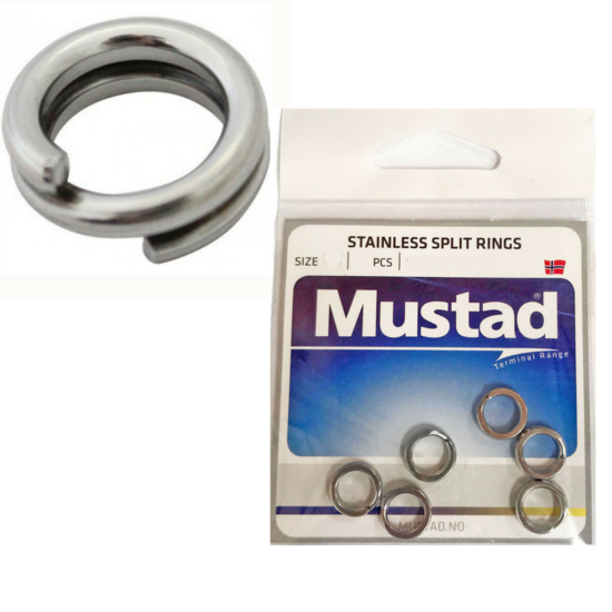 Mustad Stainless Steel Fishing Split Rings For Fishing Lures