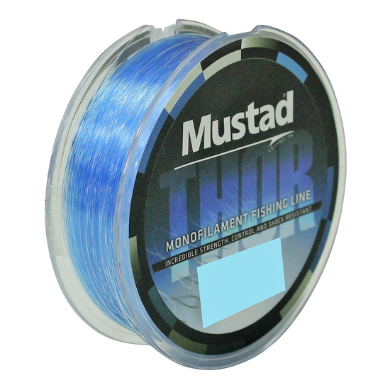 1 x 300m Spool of Mustad Thor Monofilament Fishing Line - Sea Blue Mono Line