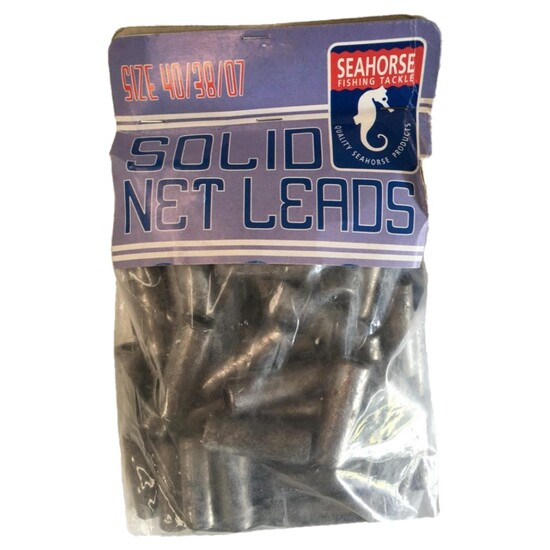 72 Pack of 22gm Solid Fishing Net Leads - Cast Net Sinker Weights
