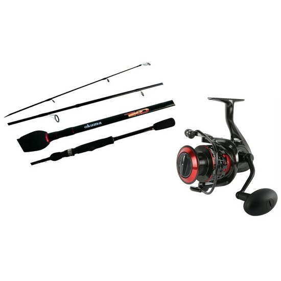 6'6 Okuma TKO/Ceymar 6-14lb Fishing Rod and Reel Combo - 2 Pce Spin Combo