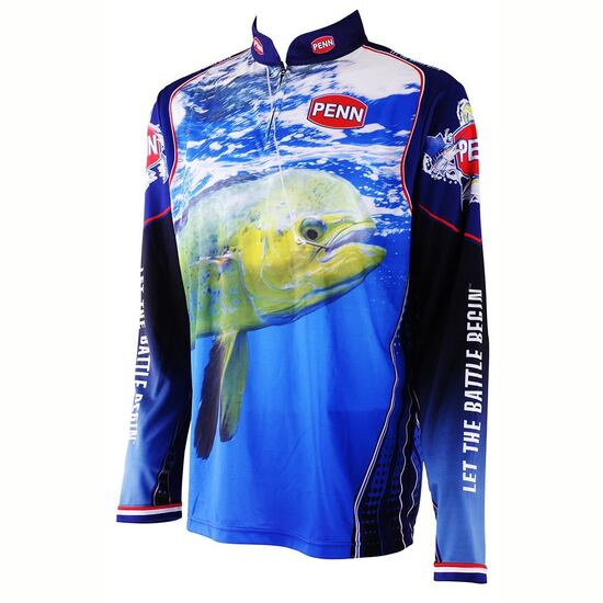 Penn Dolphinfish Long Sleeve Tournament Fishing Shirt - Dye Sublimated