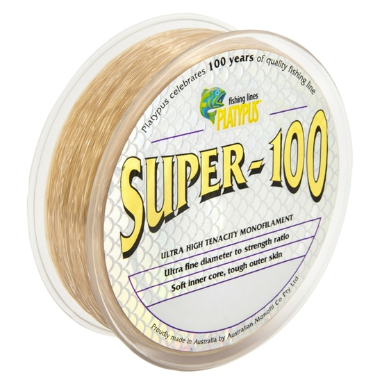 500m Spool of Brown Platypus Super 100 Monofilament Fishing Line - Mono Line