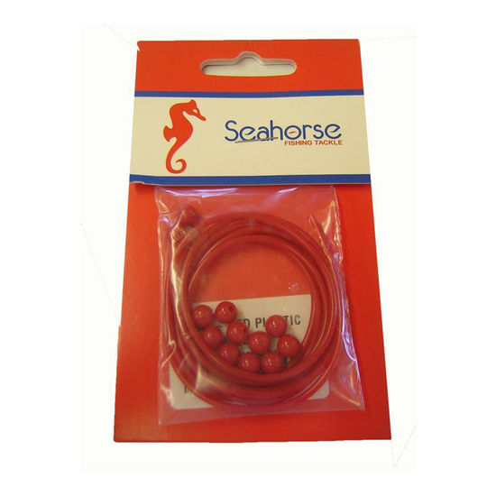 Seahorse Red Plastic Whiting Tube & Beads