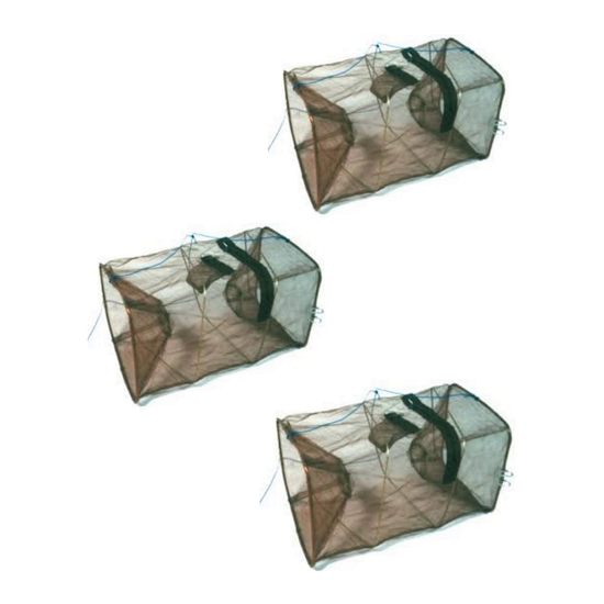3 x Seahorse Collapsible Shrimp/Bait Traps With 1 1/2 Inch Entry Rings-3 Pack