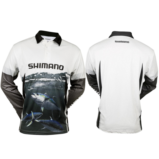 Shimano Ocea Tuna Long Sleeve Tournament Fishing Shirt - Sublimated UPF50+