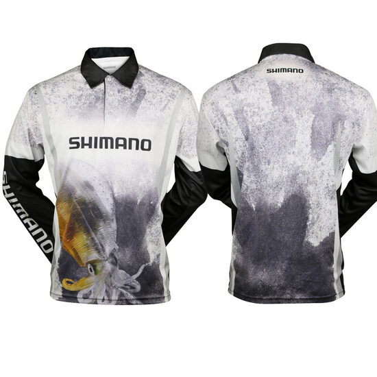 Shimano Sephia Squid Long Sleeve Tournament Fishing Shirt - Sublimated UPF50+