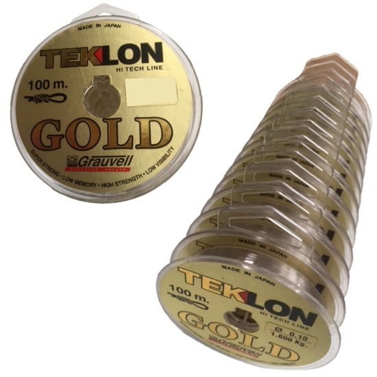 Grauvell Teklon Gold 2.25kg Mono Line-1200m in Total -12 x 100m Connected Spools