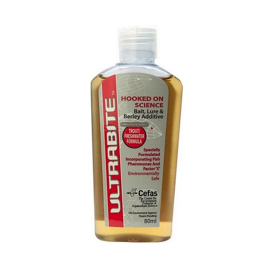 80ml Bottle of Ultrabite Liquid Fish Attractant for Freshwater/Trout Fishing