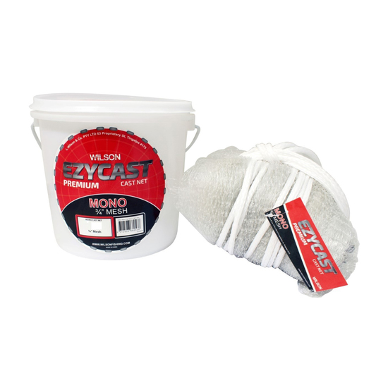 Wilson EZYCAST Mono Cast Net with 3/4 Inch Mesh Size and Bottom Pocket
