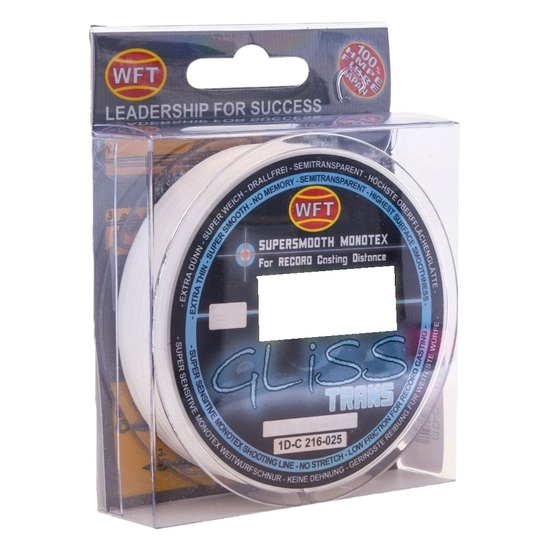 150m Spool of Transparent WFT Gliss Monotex Hybrid Fishing Line