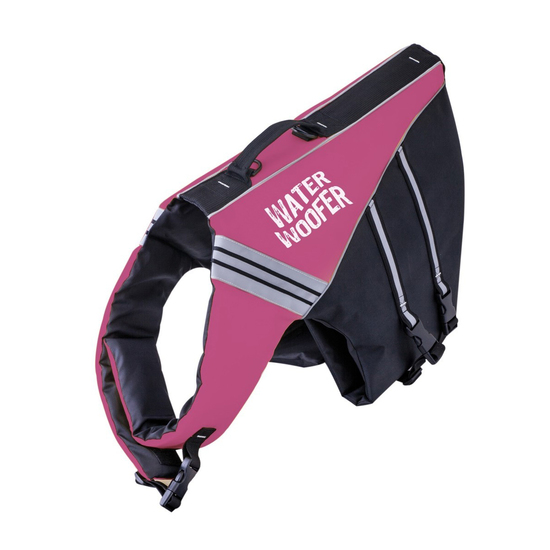 Water Woofer Dog Life Jacket - Lilac and Black Dog Floatation Device - DFD