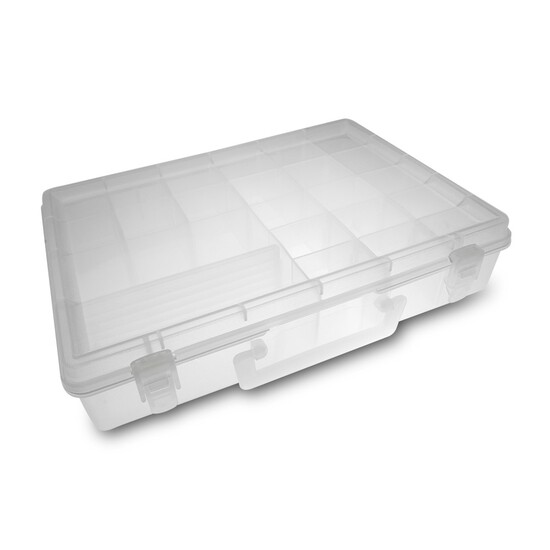 Silstar 306 Fishing Tackle Box - Fishing Tackle Tray With Up To 23 Compartments