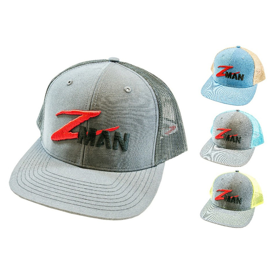 ZMan Lures Structured TruckerZ Fishing Cap with Adjustable Strap - Fishing Hat
