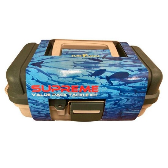 100pce SUPREME FISHING ACCESSORIES PACK - FISHING TACKLE KIT