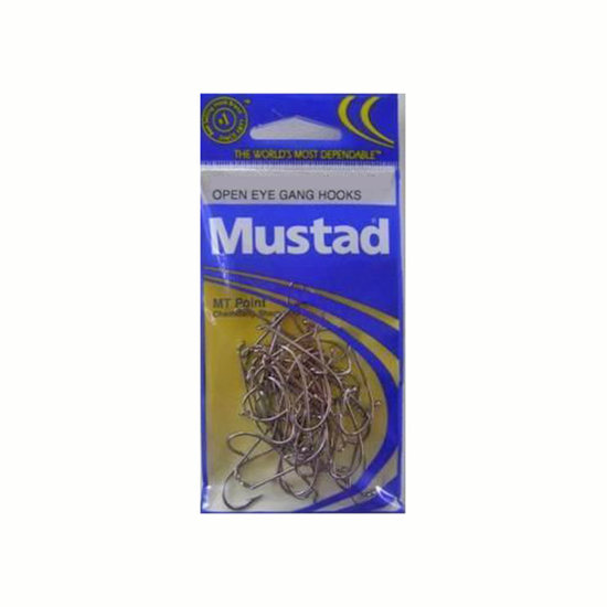 SIZE 5/0 MUSTAD 4202BLN M.T POINT GANG HOOKS CHEM SHARP QTY 26 FISHING HOOKS