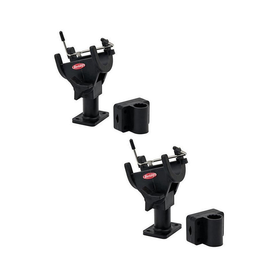 2 x Berkley Quick Set Fishing Rod Holders-Fully Adjustable With Mounting Bracket