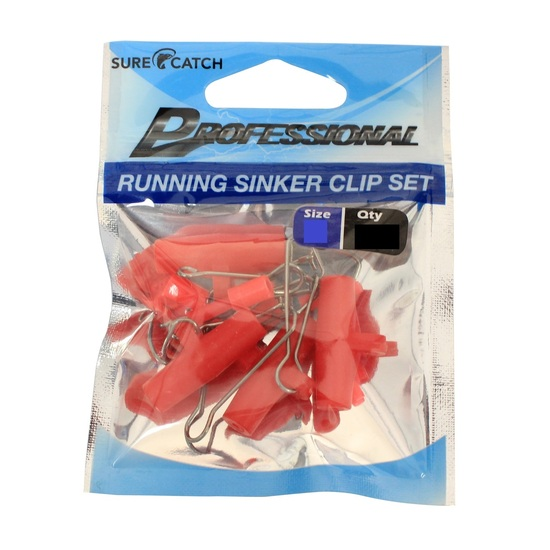 1 Packet of Medium Surecatch Running Fishing Sinker Clips