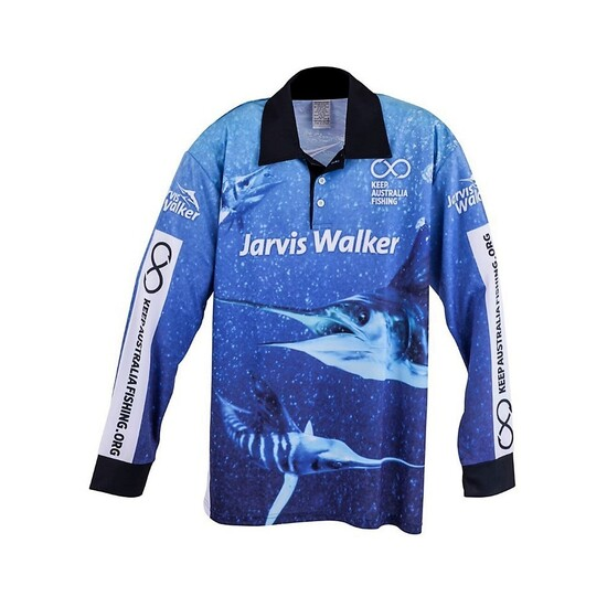 Small Jarvis Walker Long Sleeve Fishing Shirt with Collar-Light Fishing Jersey