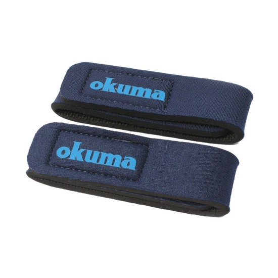 2 x Blue Okuma Fishing Rod Wraps - Secures Fishing Rods Together - Rod Straps
